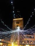 Speyer Tyskland 2017 December 1st - jul marknadsför på den Speyer domkyrkan vid natt Royaltyfri Foto