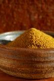 Spezia calda della polvere di curry in ciotola Fotografie Stock