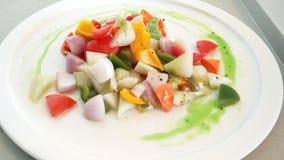 Spezia delle insalate del buffet  Fotografia Stock