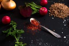 Spezia di rosso del cucchiaino Immagini Stock Libere da Diritti