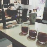 Spezialitäten-Kaffee-Sitzung Stockbilder