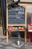 Spezialitäten von der Insel von Hvar in Kroatien stellten vor dem Speicher in Graz heraus Lizenzfreie Stockfotos