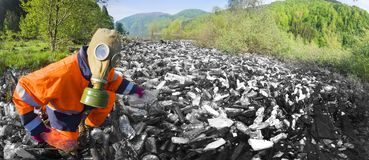 Spezialoperation, zum des Flusses des Rückstands aufzuräumen Stockfoto