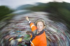 Spezialoperation, zum des Flusses des Rückstands aufzuräumen Lizenzfreie Stockfotografie