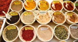 Spezie e condimenti Immagine Stock