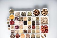 Spezie e tema delle leguminose Fotografia Stock