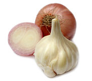 Spezie fresche della cipolla & dell'aglio Immagini Stock