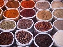 Spezie nel mercato indiano Fotografie Stock Libere da Diritti