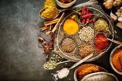 Spezie pungenti calde d'annata per cucina asiatica Immagini Stock