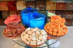 Spezie su un mercato marocchino Fotografia Stock Libera da Diritti