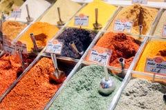 Spezie sul mercato egiziano a Costantinopoli Fotografia Stock Libera da Diritti