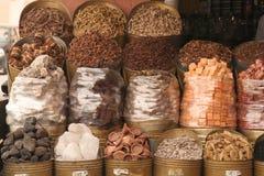 Spezie sulla via nel Marocco Fotografia Stock