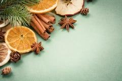 Spezie tradizionali di Natale Immagine Stock