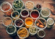 Spezie in vaso di vetro Fotografia Stock