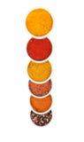 Spezie in zolle della porcellana iaolated su bianco Immagini Stock