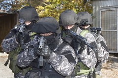 Spezielle Anti-Terror-Truppe stockfoto