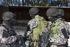 Spezielle Anti-Terror-Truppe stockfotos