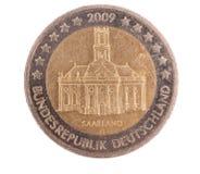 Spezielle Euromünze von Saarland Deutschland Stockbilder