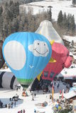 Spezielle Form-Ballone an der Festival-Chateau-Damhirschkuh Stockfotografie