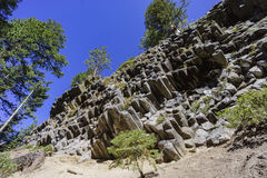 Spezielle Geologie in Teufel Postpile-Nationaldenkmal stockfotografie