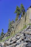 Spezielle Geologie in Teufel Postpile-Nationaldenkmal lizenzfreies stockfoto