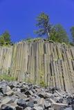 Spezielle Geologie in Teufel Postpile-Nationaldenkmal lizenzfreie stockbilder