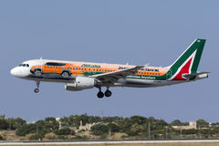Spezielle Livree Alitalia A320 Stockfotos