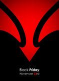 Spezielle schwarze Freitag-Fahne lizenzfreie abbildung