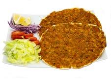 Spezielle türkische Pizza Stockfotos
