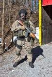Spezielle Terroristenbekämpfungseinheit des Soldaten Stockbild