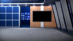 Spezieller AbendNachrichtenreport stock video footage