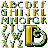 Spezieller Designsatz ABC-Alphabetes Stockbild