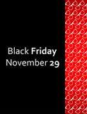 Spezieller schwarzer Freitag-Flieger lizenzfreie abbildung