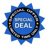 Spezielles Abkommen der begrenzten Zeit Stockfotos