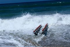 Spezielles Gerät für das Starten des Jet-Skis zum Wasser stockbild