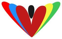 Spezielles Herzartfarbvektorlogo für neues Branding Lizenzfreies Stockbild
