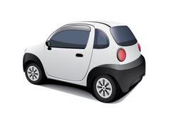 Spezielles kleines Auto auf weißem Hintergrund Stockbilder