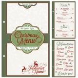 Spezielles Weihnachtsfestliches Menüdesign Lizenzfreies Stockfoto