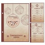 Spezielles Weihnachtsrestaurantmenü für Pizza lizenzfreie abbildung