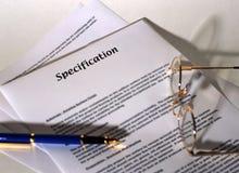Spezifikation Lizenzfreie Stockbilder