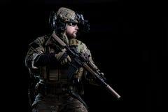 Spezifikt.-ops Soldat FLIEGENKLATSCHE stockfoto