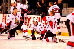 Spezza, Phillips and Alfredsson Ottawa (NHL) Stock Image
