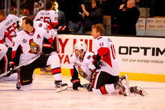 Spezza, Phillips and Alfredsson Ottawa (NHL) Stock Image
