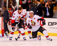 Spezza, Phillips and Alfredsson Ottawa (NHL) Stock Photography