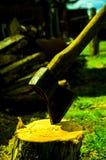 Spezzettamento del legno a pezzi Fotografie Stock Libere da Diritti