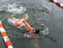 Spezzetti i concorsi nell'inverno che nuota il 4 novembre 2016 nella t Immagini Stock