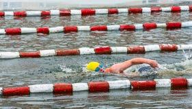 Spezzetti i concorsi nell'inverno che nuota il 4 novembre 2016 nella t Fotografia Stock