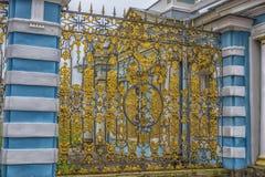 Spezzetti il cancello dorato, Catherine Palace, Tsarskoye Selo, spinta Fotografie Stock Libere da Diritti