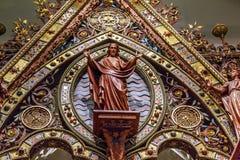 Spezzetti un altare medievale nell'interno del abd Albert di Victoria Immagini Stock