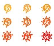 Spf 10, 90 logo Fotografia Stock